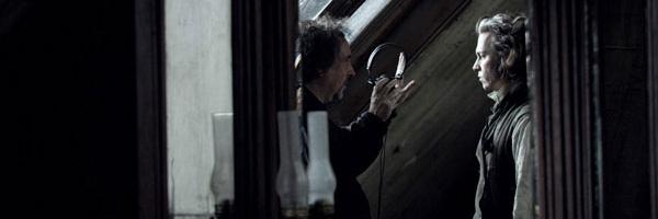 Tim Burton y Johnny Depp en el 'set' de 'Sweeney Todd'