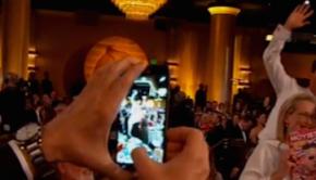 El photobomb de Benedict Cumberbatch a Meryl Streep en los Globos de Oro