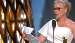 Patricia Arquette durante su discurso de agradecimiento en los Oscar
